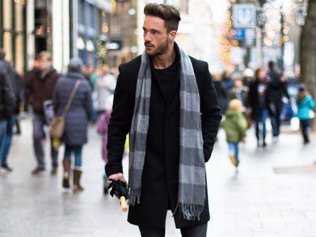 5 стильных вариантов повязать мужской шарф