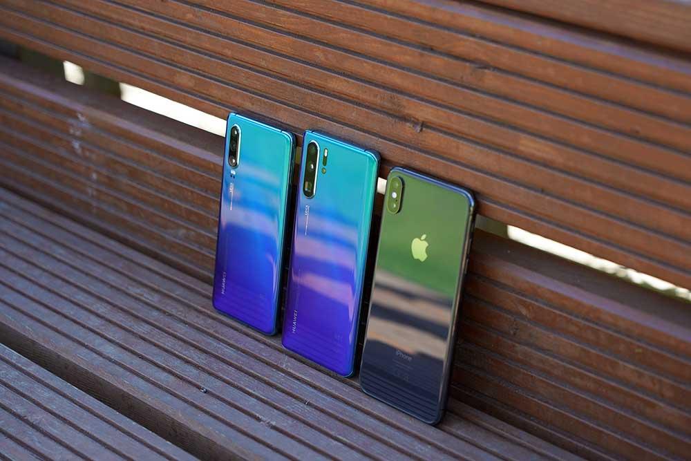 Huawei P30 и P30 Pro в сравнении с iPhone XS Max