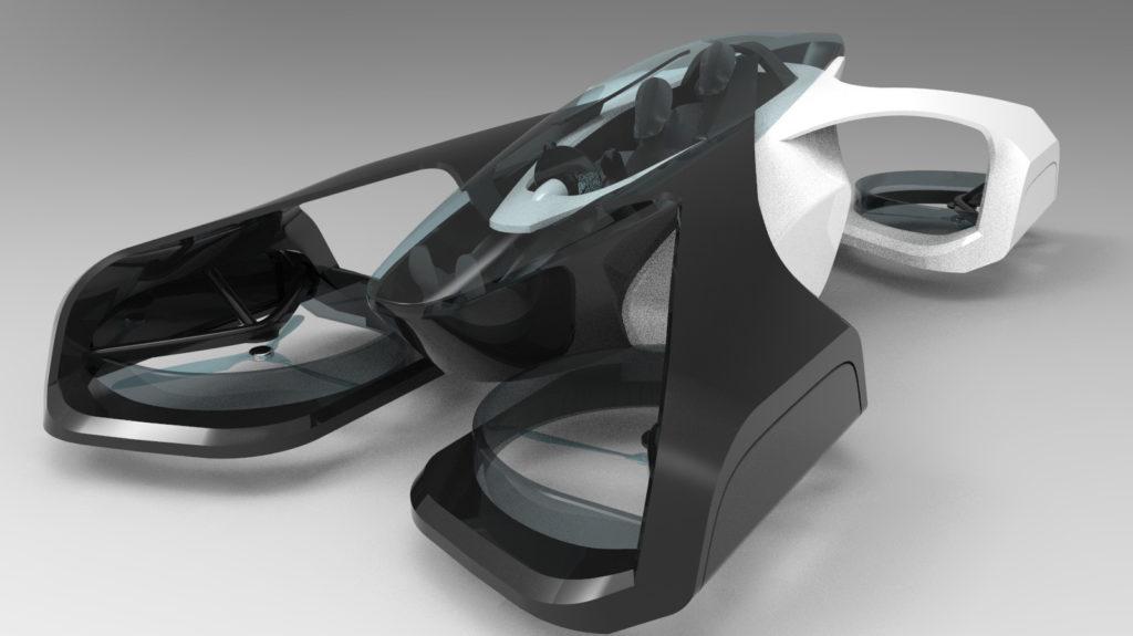 Летающий автомобиль SkyDrive, который Toyota разрабатывает совместно со стартапом Cartivator