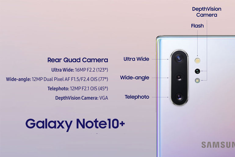 Samsung Galaxy Note 10+ камеры