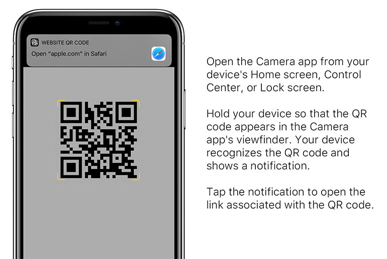 Как сканировать QR коды на Apple iPhone
