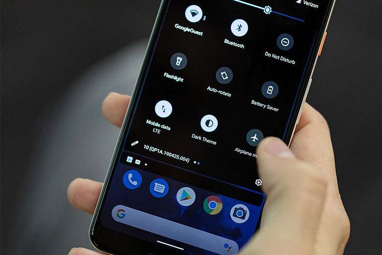 Тёмная тема Android 10