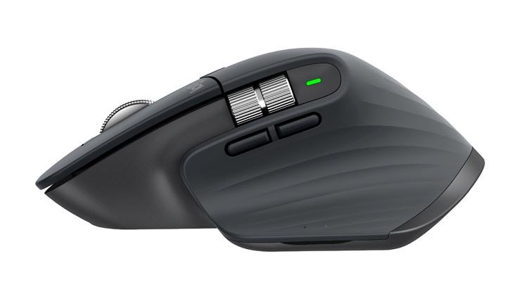 Мышь Logitech MX Master 3 вид сбоку