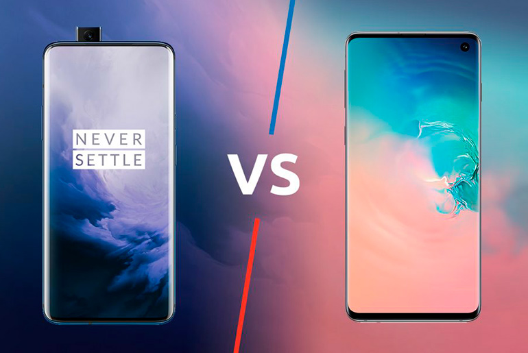 OnePlus 7T vs. Galaxy S10