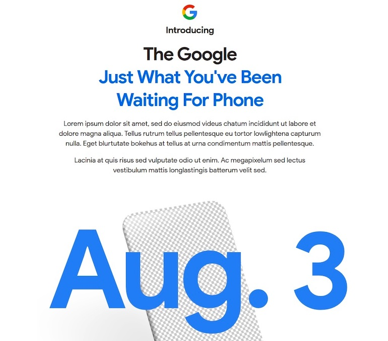Google Pixel 4a дата выхода